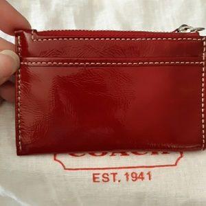 Coach Bags - NWOT Beautiful Red Coach Leatherware Mini Skinny